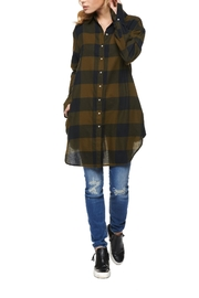 Dex Plaid Button-Down Tunic - Product Mini Image