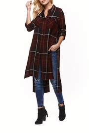 Dex Plaid Button Up Tunic - Product Mini Image