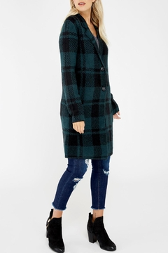 Dex Plaid Cardigan Coat - Product List Image