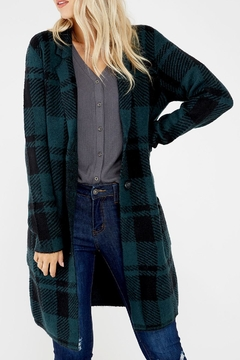 Dex Plaid Cardigan Coat - Alternate List Image