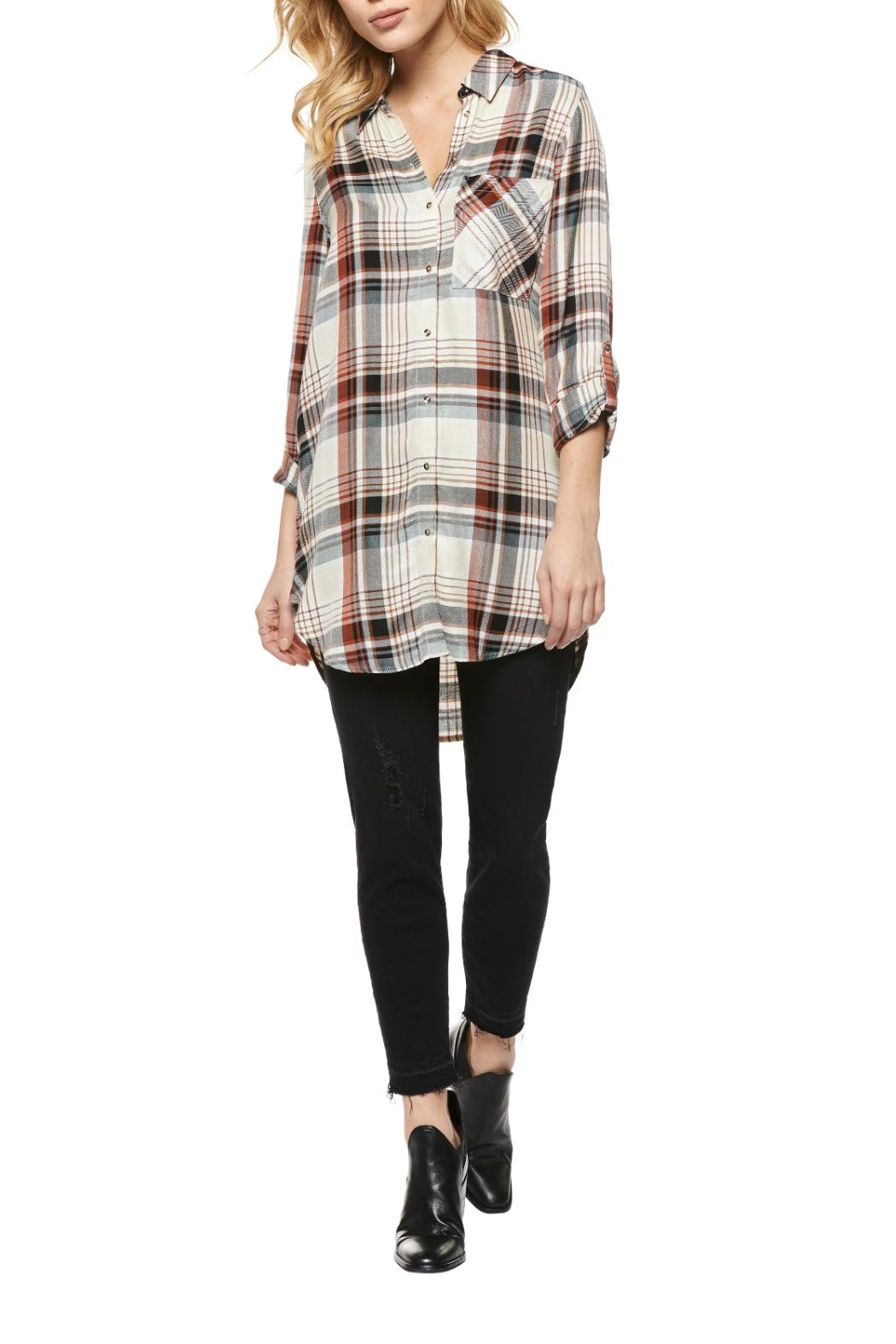 Dex Plaid Tunic Shirt - Main Image