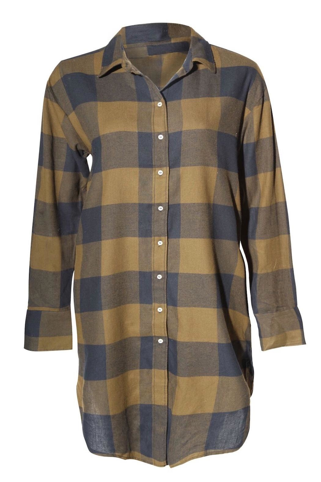 Dex Plaid Shirt Shirt - Front Cropped Image