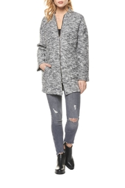 Dex Plush Bomber Coat - Front cropped