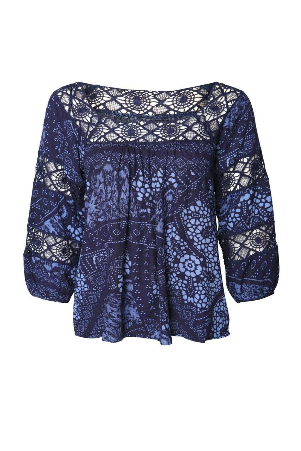Dex Peasant Blue Blouse - Main Image