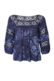 Dex Peasant Blue Blouse - Front full body