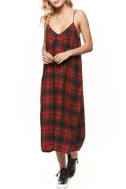 Dex Red Plaid Dress - Front cropped