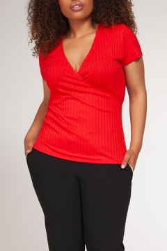 Dex Ribbed Wrap Top - Product List Image