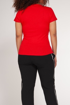 Dex Ribbed Wrap Top - Alternate List Image