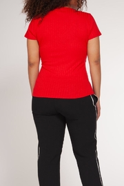 Dex Ribbed Wrap Top - Front full body