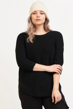 Dex Rounded Hem Knit Sweater - Product List Image