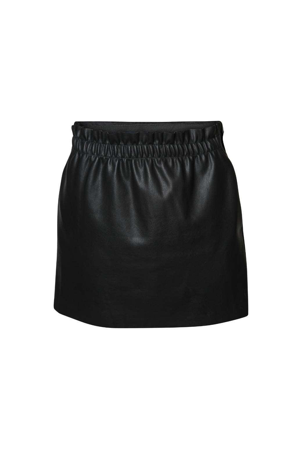 Dex Ruched Leather Skirt - Main Image