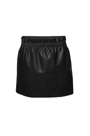 Dex Ruched Leather Skirt - Product Mini Image