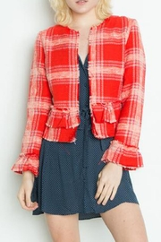Dex Ruffle Tweed Jacket - Front cropped