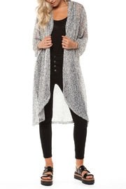 Dex Salt-n-Pepper Duster Cardigan - Front cropped