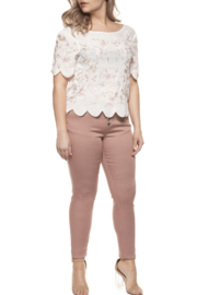Dex Scalloped Beaded Top - Product Mini Image