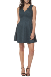 Dex Scalloped Neckline Suede Dress - Product Mini Image