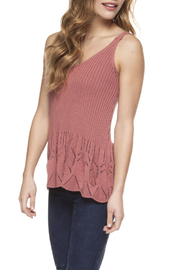 Dex Scalopped Sweater Tank - Product Mini Image