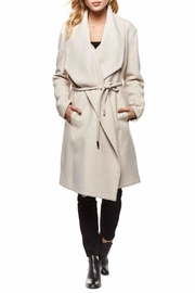 Dex Shawl Collar Wrap Coat - Front cropped
