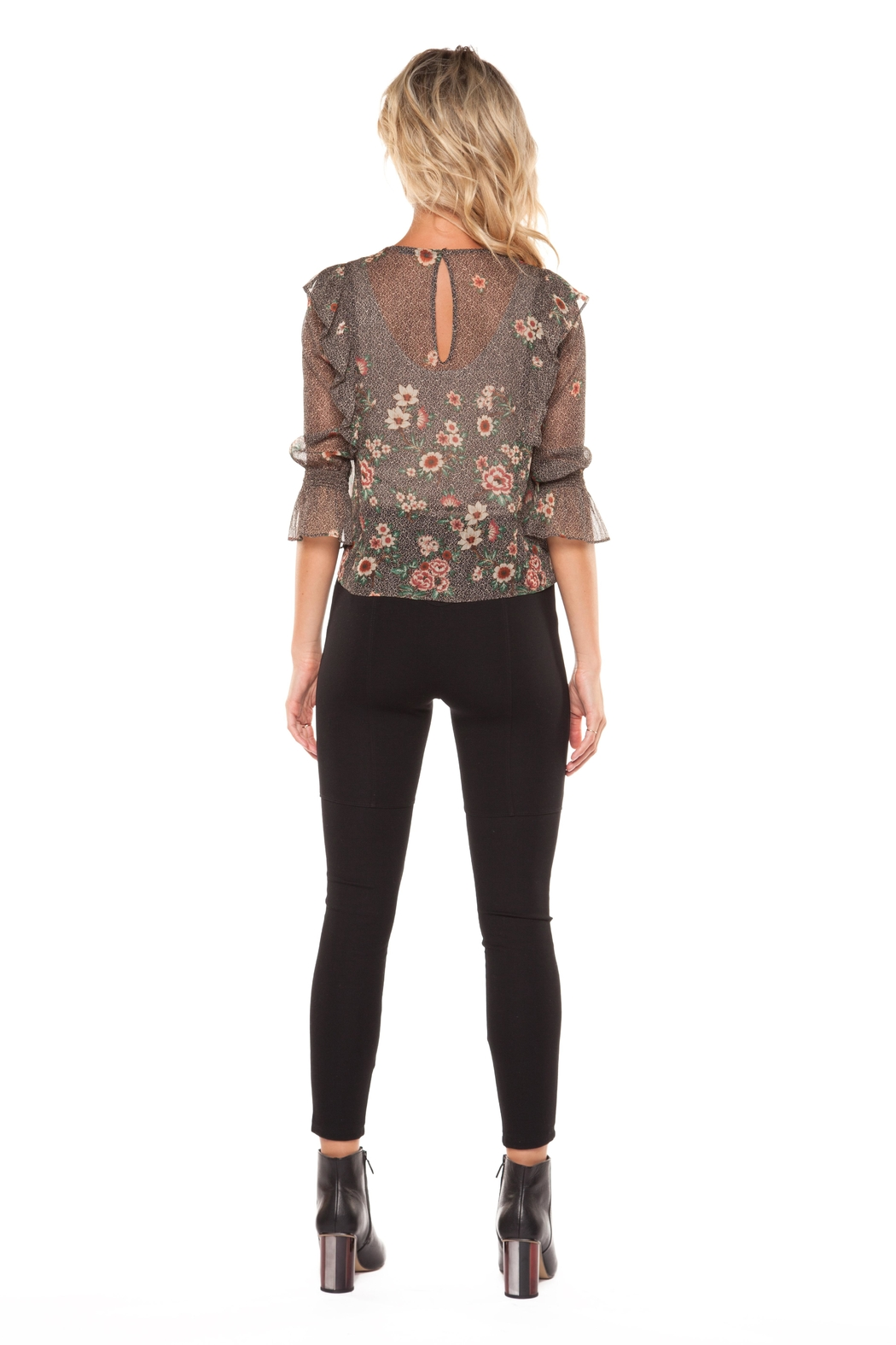 Dex Sheer Print Blouse - Front Full Image
