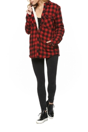 Dex Sherpa Lined Plaid Jacket - Front cropped