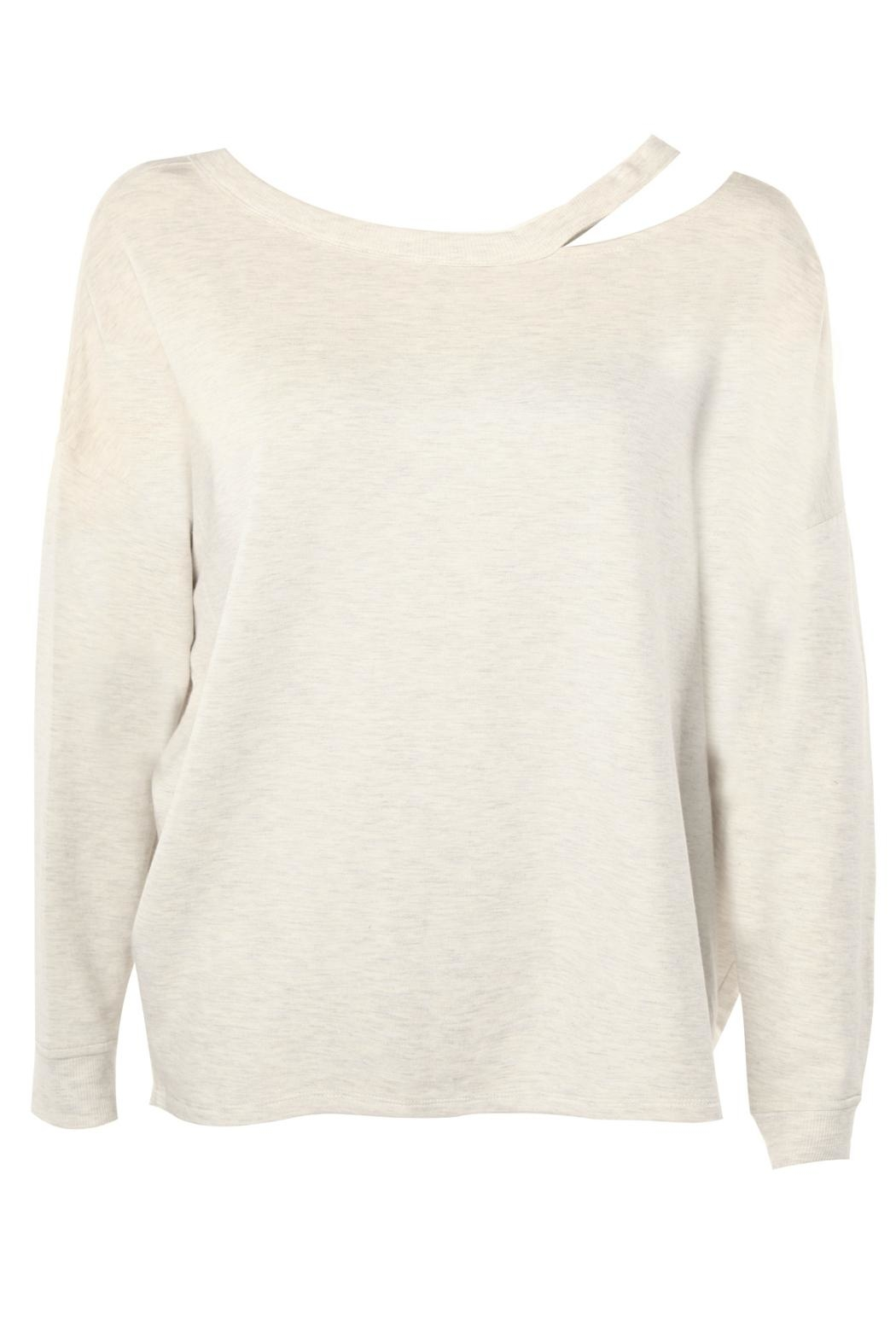 Dex Shoulder Accented Sweatshirt - Front Cropped Image