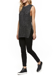 Dex Sleeveless Metallic Sweater - Product Mini Image