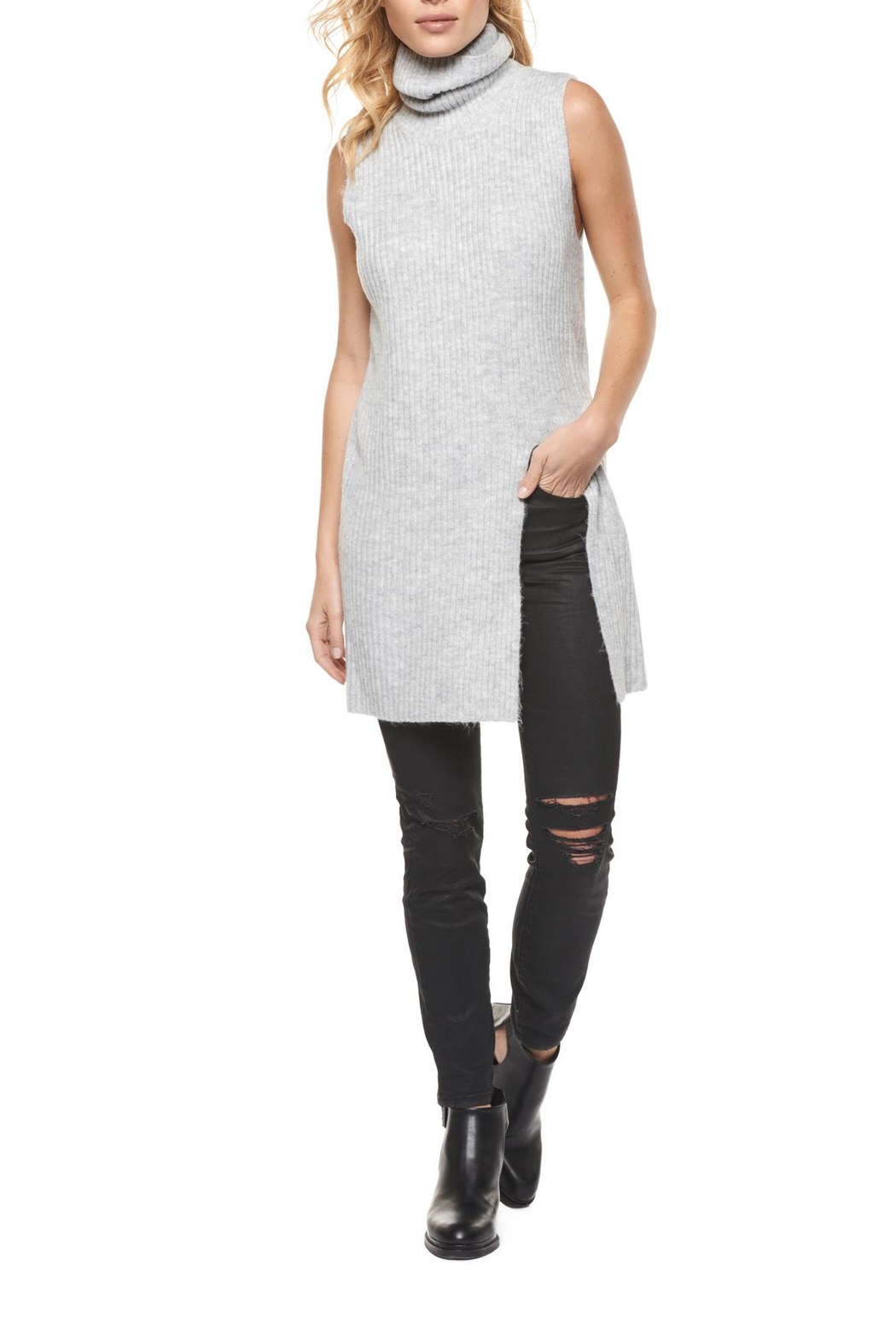 Dex Slit Front Sweater - Front Cropped Image