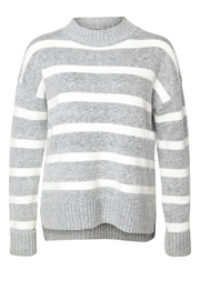 Dex Step-Hem Striped Sweater - Product Mini Image