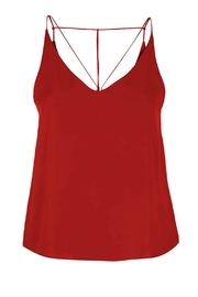 Dex Strappy Red Cami - Front full body