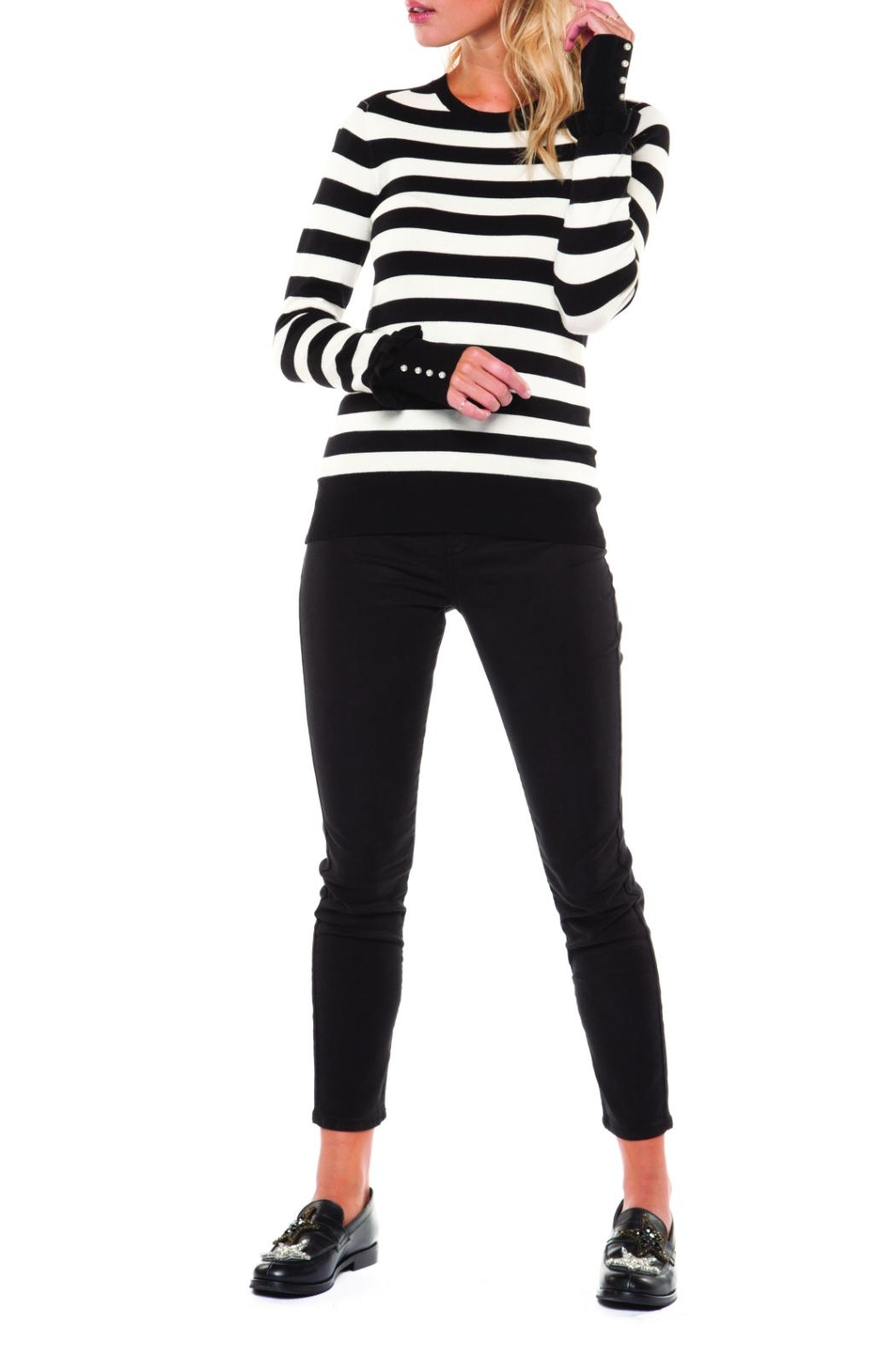 Dex Striped Crew Sweater - Main Image