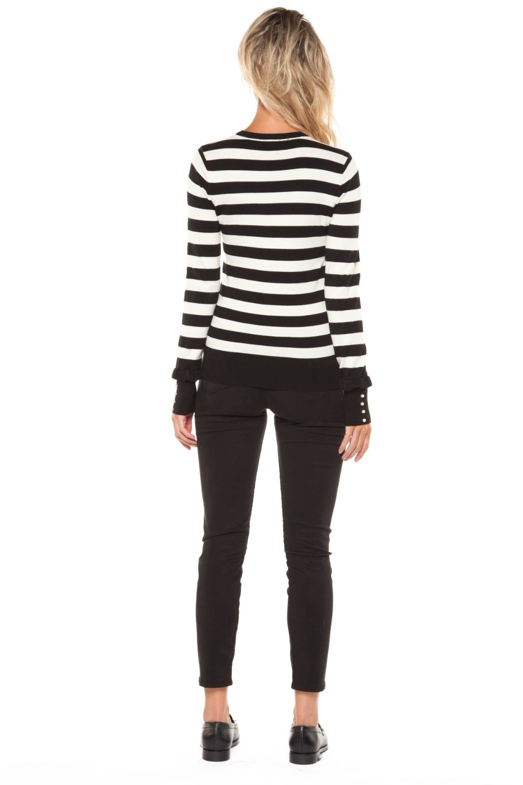 Dex Striped Crew Sweater - Front Full Image