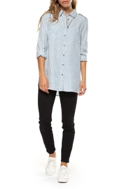 Dex Striped Tencel Shirt - Product Mini Image