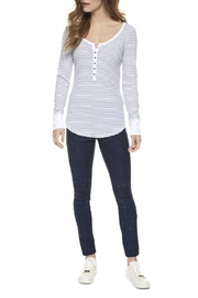 Dex Striped Thermal Henley - Product Mini Image