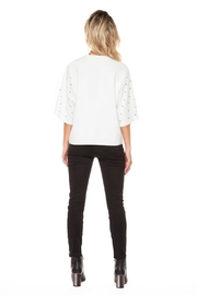 Dex Studded Crew Top - Front full body