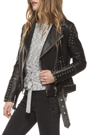 Dex Studded Moto Jacket - Front cropped