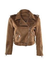 Dex Suede Motorcycle Jacket - Product Mini Image