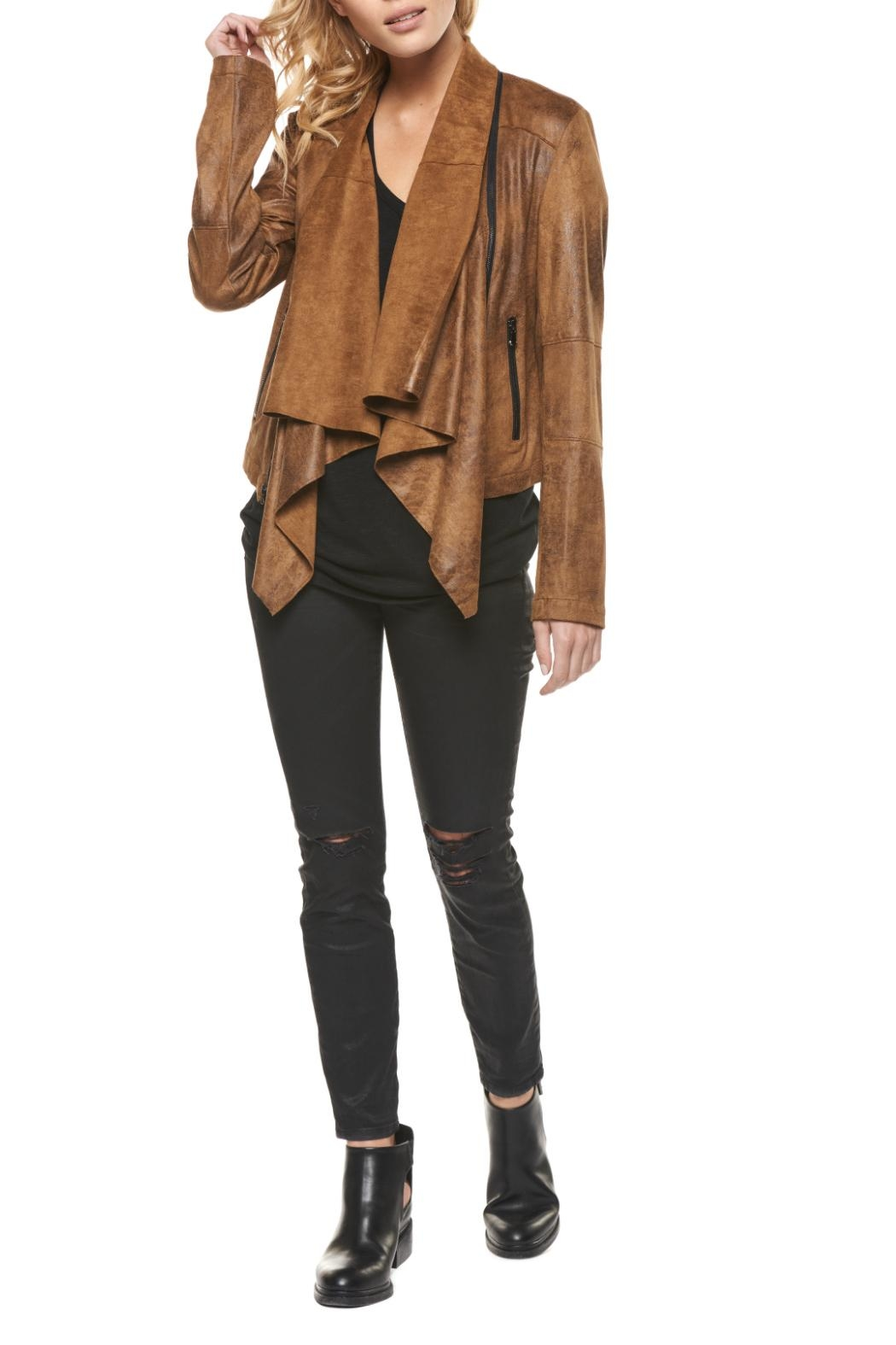 Dex Suede Open-Draped Jacket - Main Image