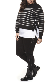 Dex Sweater With Side Ties - Product Mini Image