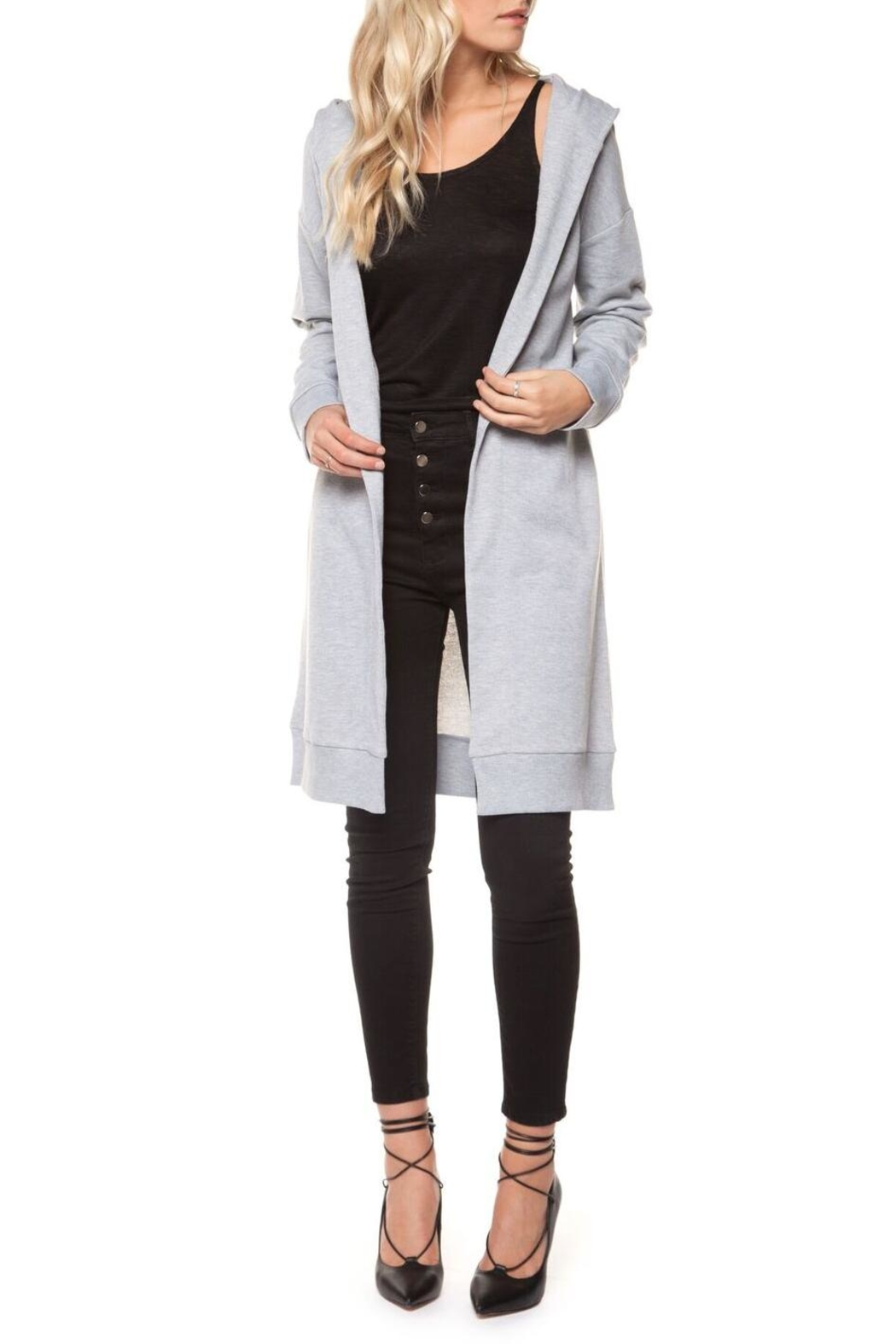 Dex Sweatshirt Cardigan - Side Cropped Image