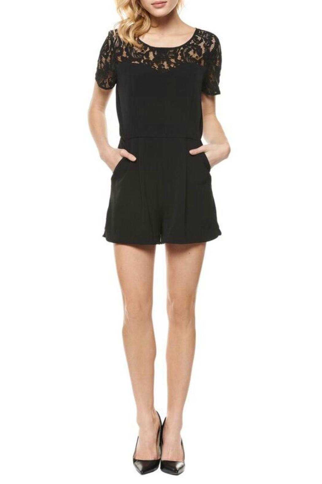 Dex Sweetheart Romper - Front Cropped Image