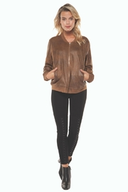 Dex Tan Suede-Coated Bomber - Product Mini Image