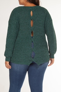 Dex Teal Cut-Out Sweater - Alternate List Image