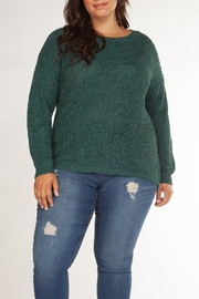 Dex Teal Cut-Out Sweater - Product Mini Image