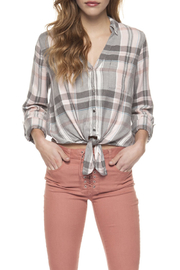 Dex Tie Front Button Blouse - Product Mini Image