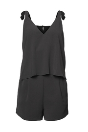 Dex Tie Up Layered Romper - Product Mini Image