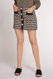 Dex Tweed Button Skirt - Product Mini Image