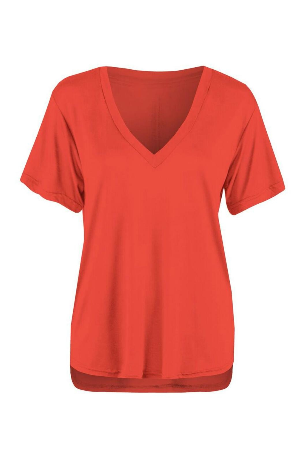 Dex V Neck Red Shirt - Main Image