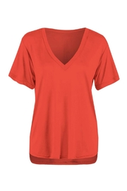 Dex V Neck Red Shirt - Front cropped