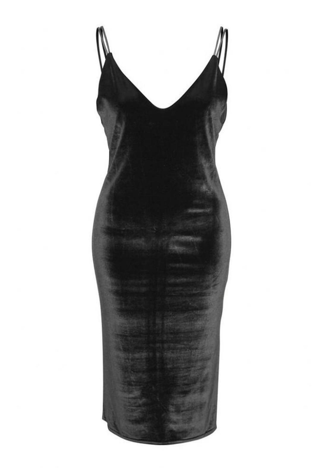 Dex Velvet Bodycon Dress - Front Full Image