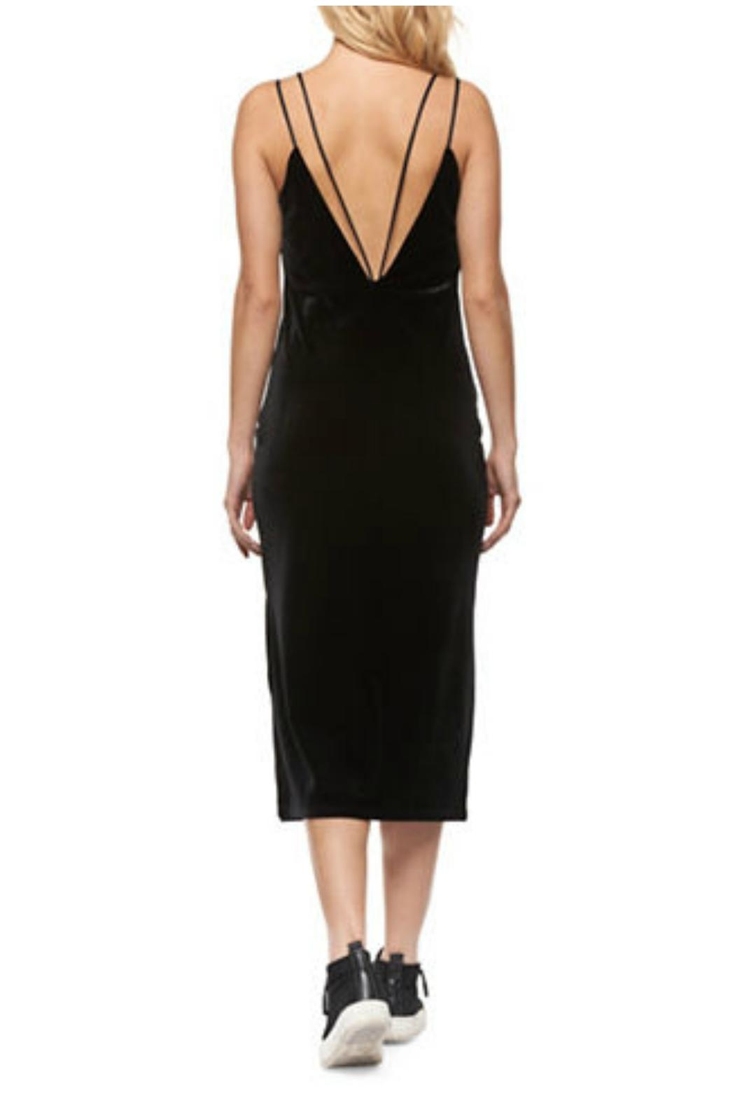 Dex Velvet Bodycon Dress - Side Cropped Image